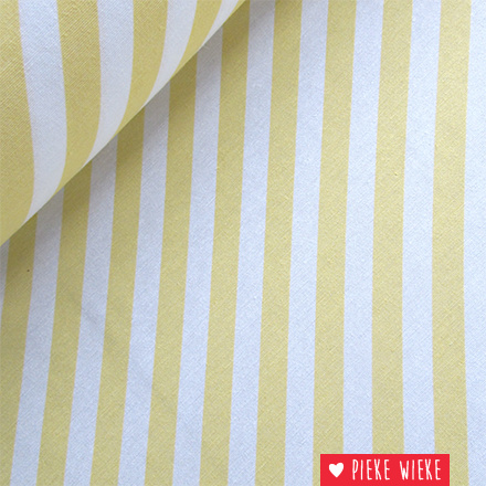 Canvas Diagonale strepen geel