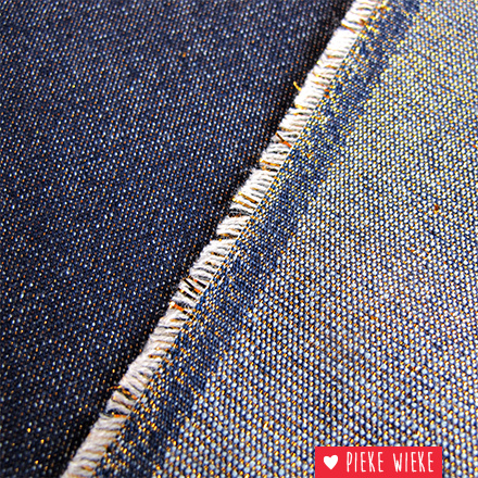 Jeans Blauw met goud