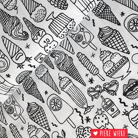 Rico design Colouring activity fabric Icecream