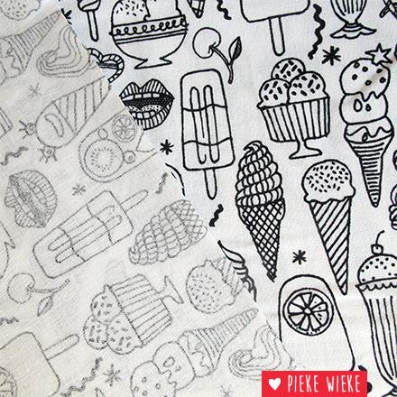 Rico design Inkleurbare stof ijsjes