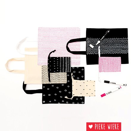 Rico design Textielstift voor op donkere stoffen