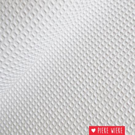 Waffled coton white