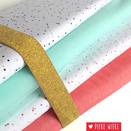 Rico design Confetti Roze - goud