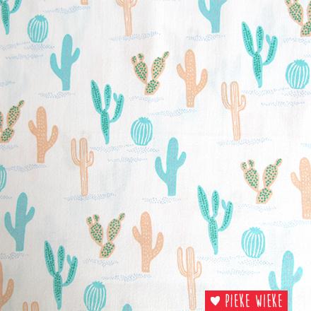 Rico design Katoen cactussen