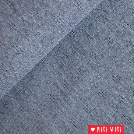 Uni ajour Jeans blauw