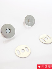 Magnetic button 18mm nickel
