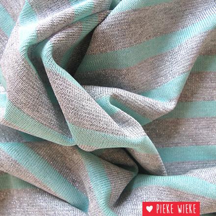 Glitter tricot gelijnd Mint