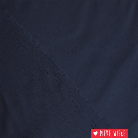 Crêpe marine blauw