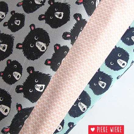 Cotton + Steel Cozy bears grijs