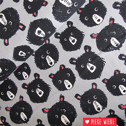 Cotton + Steel Cozy bears grijs