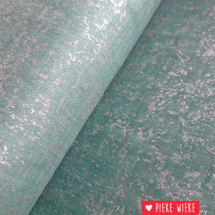 Kokka Double Gauze Paint Mint