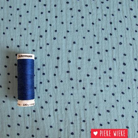 Double Gauze Dots blue
