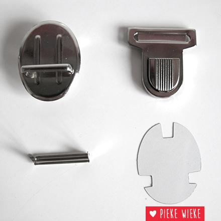 Clasp for schoolbags 38mm Nickel