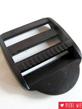 Schuifgesp 30mm zwart kunststof
