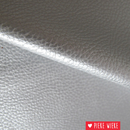 Imitation Leather Silver
