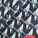 Kokka Canvas origami birds Blauw Zilver