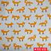 Kokka Gelamineerde canvas Little fox Lichtblauw