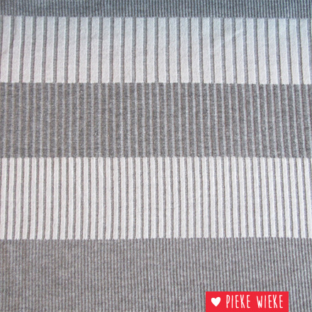 Jacquard stripes gray