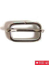 Slide buckle 25 mm nickel metal