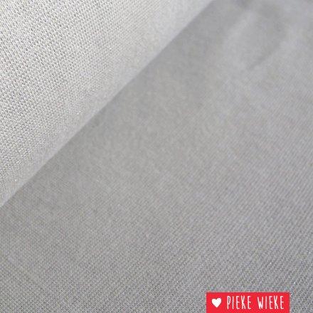 Glitterboordstof Zandkleur/zilver