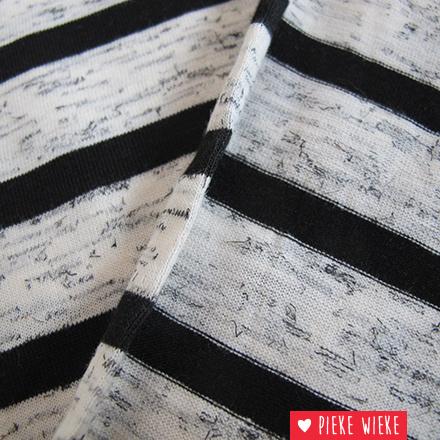 Poppy Tricot strepen grijs zwart