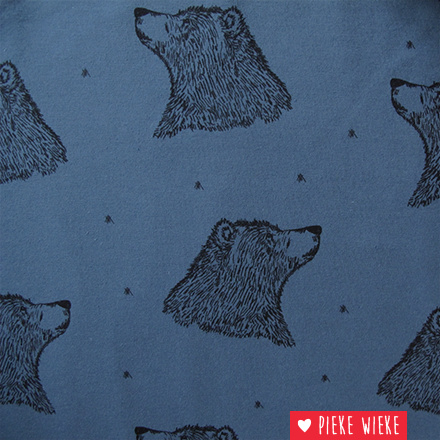 Bloome CPH French terry Curious Bear Blue