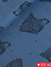 Bloome CPH French terry Curious Bear Blauw