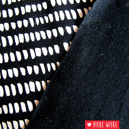 Jersey little stripes black