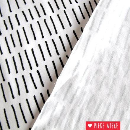 Tricot streepjes wit