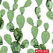 About blue fabrics French Terry Cactus