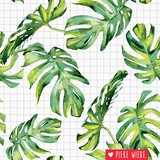 About blue fabrics French Terry Botanical grid