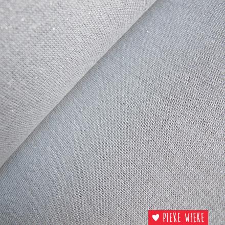 Glitterboordstof Grijs/zilver