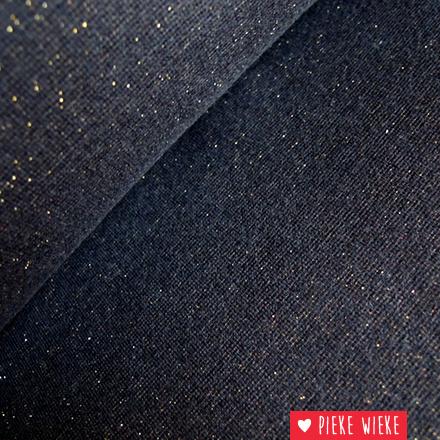 Glitterboordstof Zwart/goud