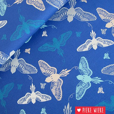 Tricot birds blauw