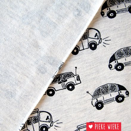 Tricot little cars grijs