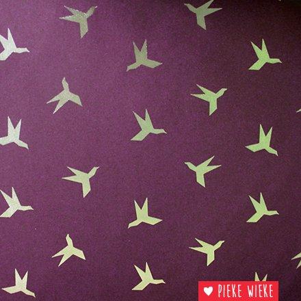 Poppy Softshell Gouden vogels bordeaux