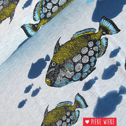 Mies & Moos Jersey Fish in the sea grey