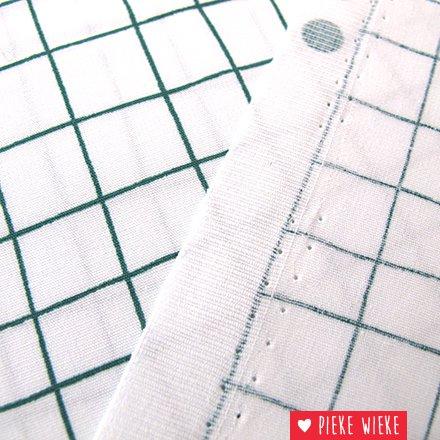 Rico design Cotton Hygge checked green