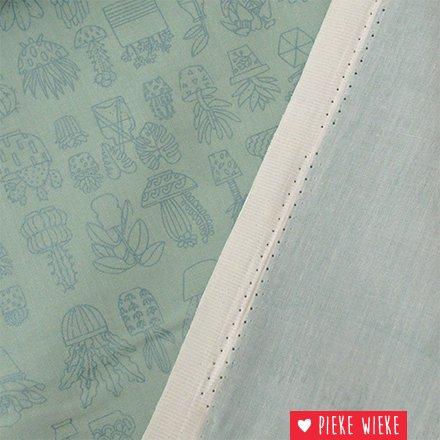 Rico design Cotton Hygge cacti mint metallic