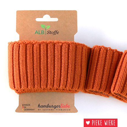 Albstoff Cuff Me Cozy sleeve collar Nepal orange