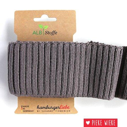 Albstoff Cuff Me Cozy sleeve collar Carbon gray