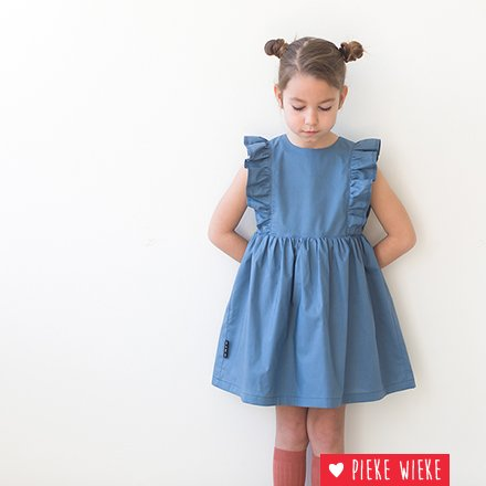 See You at Six Cotton Lawn Dyna blue solid
