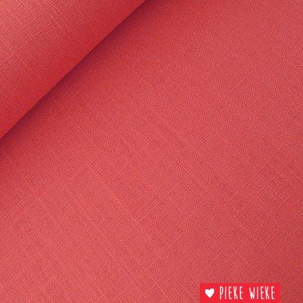 Viscose linnen Roze rood