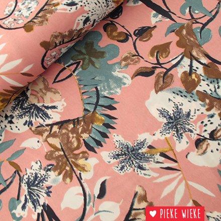Royal micro satin bloemen Roze