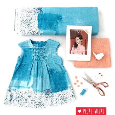 Nova, a spring dress in Nani Iro fabric