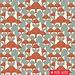 Birch Fabrics Biologische tricot NurtureFox Similies