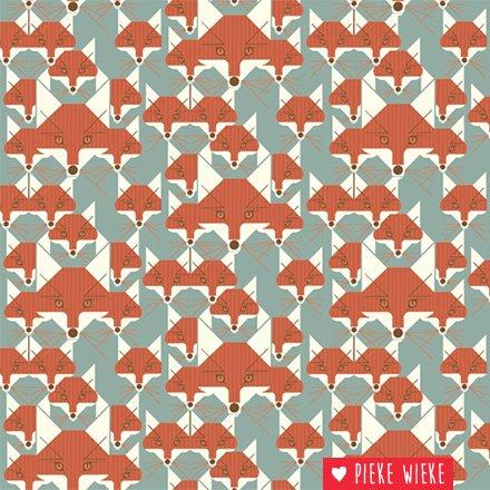 Birch Fabrics Organic knit Fox Similies