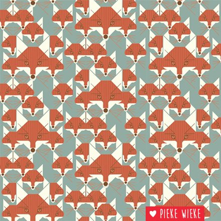 Birch Fabrics Tricot Fox Similies