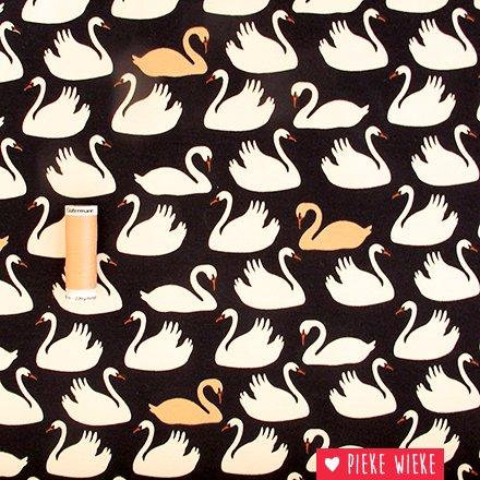 Birch Fabrics Organic knit Swan Lake