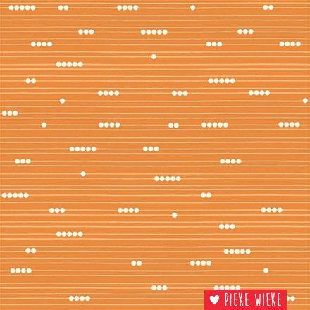 Birch Fabrics Biologische Katoen Mod basic Oranje